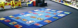 Photo of the library mat