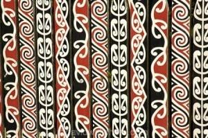 Maori Design on Fence, Government Gardens, Rotorua