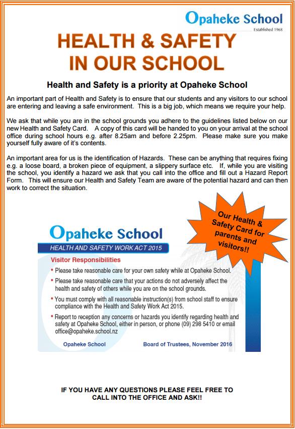 health safety flyer